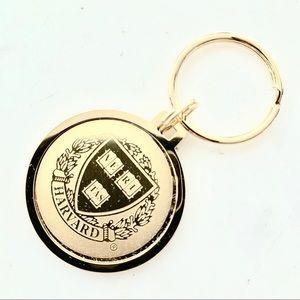 23K Gold Harvard Key Ring Charm